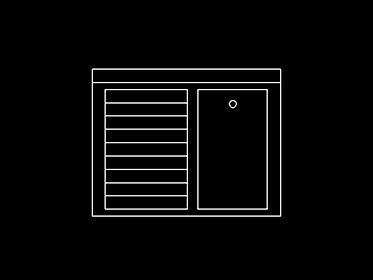 Lavadero bloque de mueble autocad 2d gratis for Bloques dwg gratis