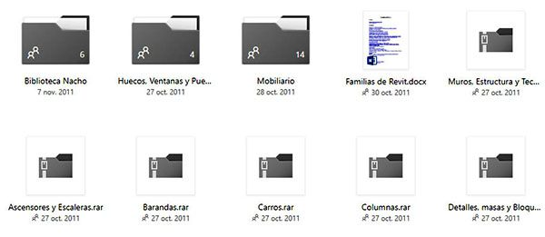FAMILIAS REVIT DESCARGA